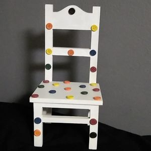 Wooden 12 inches doll chair.